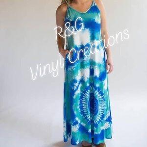 Blue Tye Dye Maxi